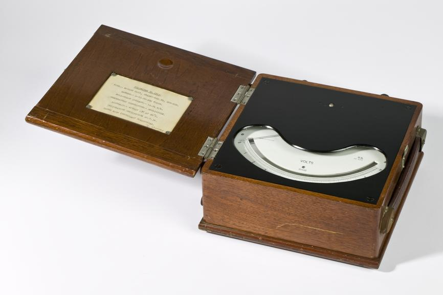 Ferranti electric meter, 1949.Photographed on a white background.
