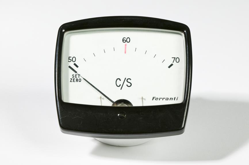 Ferranti Ltd model MCAA35 voltmeterPhotographed on a white background.