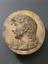 """Plaster cast, head of Apollo ? Facing left, long hair to shoulders, """"J.Watt"""" scratched on back, with wire loop for"""
