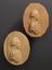 """Group photograph of: Top right (1926-1075/127/2), Reproduction in wood. No 127 marked on back """"Herchel 1808 dr"""" oval 2"""