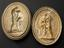 """Group photograph. Plaster mould, Hercules and the Numaean lion, oval 10 1/2"""" x 8 1/4"""" (left) and plaster cast, Hercules"""