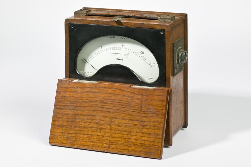 Ferranti Ltd model V4704 voltmeterPhotographed on a white background.