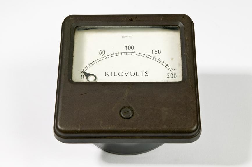 Ferranti Ltd model NS kilovoltmeterPhotographed on a white background.