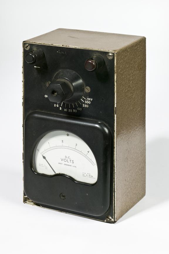 Ferranti Ltd model NS voltmeterPhotographed on a white background.
