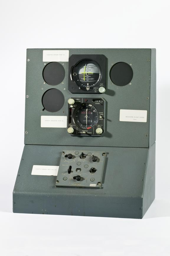 Ferranti aviation instrumention panel,1966Photographed on a white background.