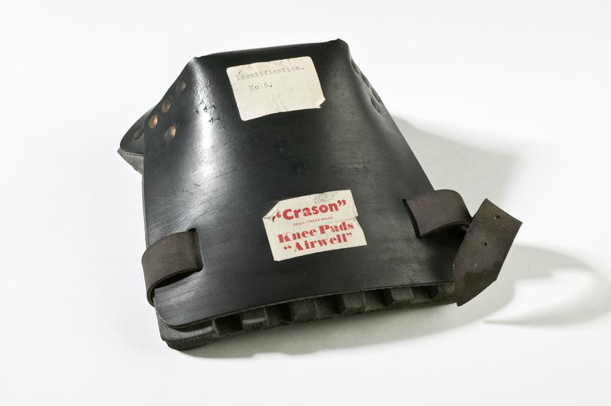 Kneepad, by Crason Products Ltd, 1972Photographed on a white background.