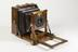 Half-plate field camera by A. Franks Ltd, c.1900Photographed on a white background.