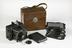 Camera with plates and case by Ernemann-Werke, c.1923.Photographed on a white background.