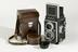 Twin lens reflex camera, 1960Photographed on a white background.