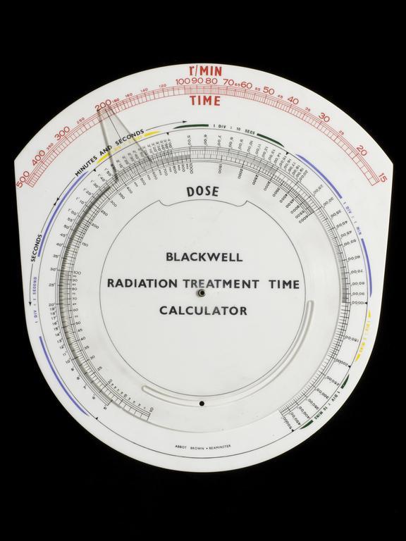 Blackwell Radiation Treatment Time Calculator.