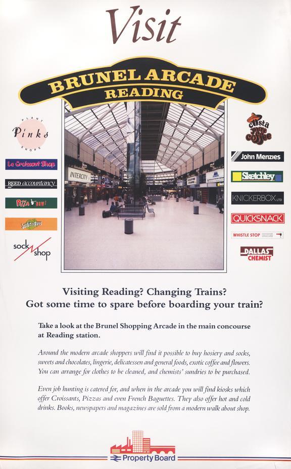 Poster. Visit Brunel Arcade, Reading.