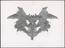 One of ten Rorschach inkblot test cards in cardboard case, printed by Hans Huber, Bern, Switzerland, 1921-1950.       The