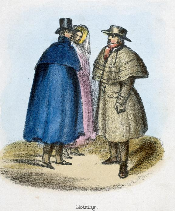 'Clothing', 1845. Detail from print. coloured lithograph. 'The Sheep' / by Benjamin Waterhouse Hawkins, [c1850], Plate