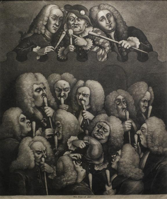 The Company of Undertakers. William Hogarth del Mezzotint.
