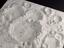 Plaster relief model of a portion of the Moon  by James Nasmyth, showing the lunar craters Maurolycus and Barocius.