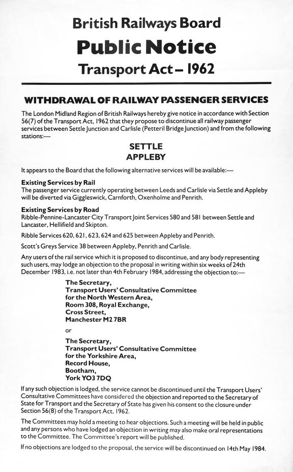 Poster, Public Notice, Transport Act - 1962