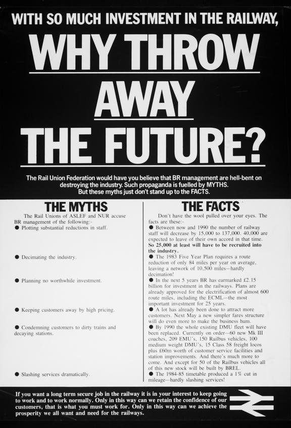 Poster, Why Throw Away the Future
