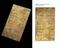 """1 Brass barometer printing plate,  """"I. Watt Glasgow"""" . Digital manipulated image showing the original plate and a"""