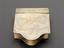 Tinder box. In brass. Engraving on lid: 'Progress of Steam'. Detailed view of lid from above