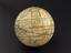 Pocket globe by Dudley Adams, fishskin case, celestial and terrestial. Shows the routes of Captain Cook's voyages.