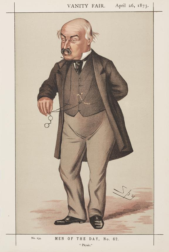 "William Jenner. Portrait. Chromolithograph. [William Jenner]  ""Physic"" by Spy, Vanity Fair"