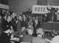 Lord Beaverbrook speaking in support of the Tory Party Candidate in Streatham, 1945       This is a fully retouched and