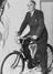 The Minister of Transport, Leslie Hore Belisha astride a brand new bicycle presented to him when he opened the