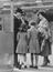 The Wrens 4th Anniversary Parade, The Duchess of Kent introduces her two chidren to Mrs Laughton Mathews, one of the
