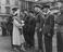 The Queen talks to Rhodesian troops at a garden party held for Repatriated Prisoners of War at Buckingham Palace       This