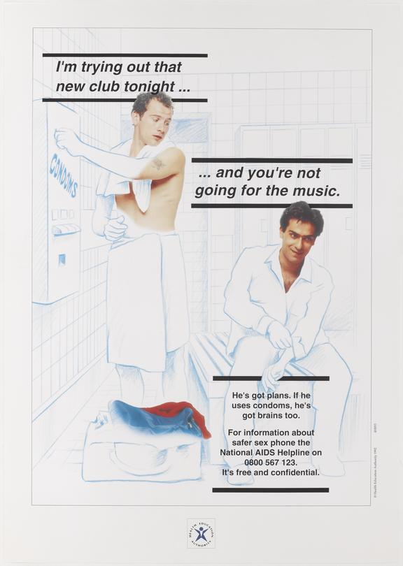 """Poster for """"I'm trying out that new club tonight...and you're not going for the music"""" 1992. One of Approximately 800"""