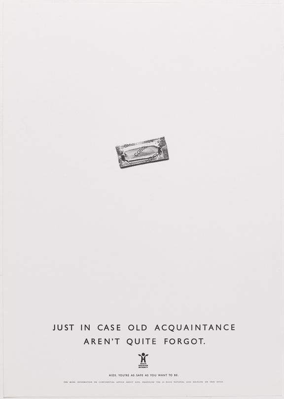 """Poster for """"Just in case old aquaintance aren't quite forgot"""" One of Approximately 800 health education posters"""