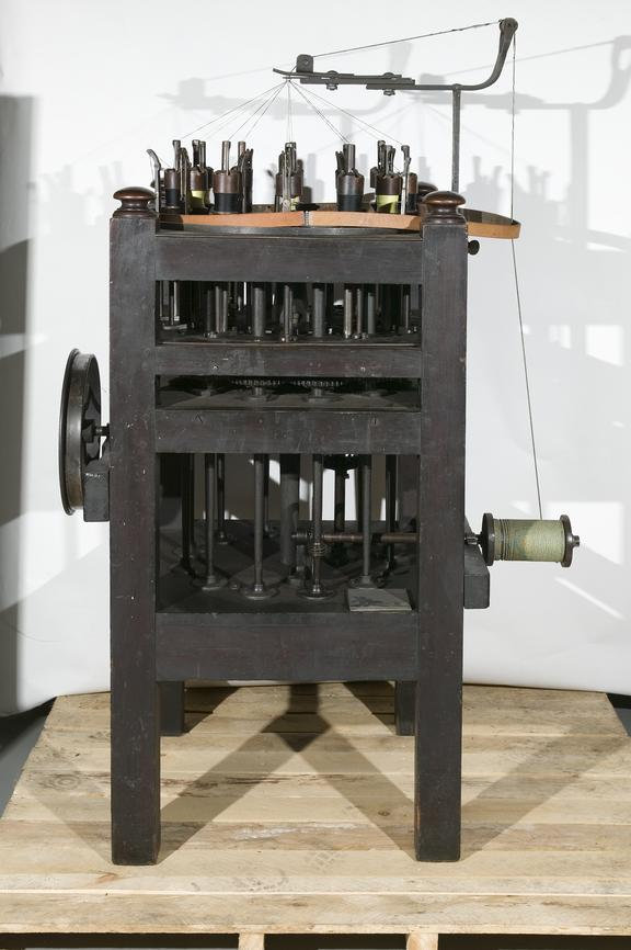 Braiding machine,  made by J. B Hyde & Co. Ltd, Altrincham, c.1870.Photographed in Store 1.