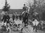 The Old Surrey and Burstow foxhounds meet at the Kennels, Felbridge, East Grinstead       This is a fully retouched and
