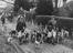 Old Surrey and Burstow foxhounds meet at the Kennels, Felbridge, East Grinstead       This is a fully retouched and clean,