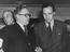 Roy Jenkins and Herbert Morrison at the Labour Party May Day Celebrations Concert at the London Coliseum, 1948       This is