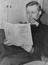 Tony Benn (Anthony Wedgewood Benn) MP. reads a report on House of Lords reform       This is a fully retouched and clean,