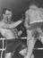 Henry Cooper Heavyweight Boxer fighting Brian London, the Blackpool Bulldozer at Earls Court       This is a fully retouched