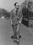 Michael Foot, Labour MP walking in the park       This is a fully retouched and clean, publication quality copy of an