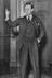 Hon Quentin Hogg, later Lord Hailsham poses as if giving a speech in his office, 1934       This is a fully retouched and