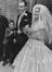 Shirley Bloomer and Christopher Brasher. The Wedding of Shirley Bloomer, tennis champion and Chris Brasher, Olympic runner, 1959.       This is a fully retouched and