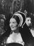 "Vanessa Redgrave rehearsing the banquet scene as Anne Boleyn in ""A Man For All Seasons"" at Shepperton Film Studios,"
