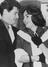 Elizabeth Taylor and Eddie Fisher arrive at London airport from Nice, 1959.       This is a fully retouched and clean,