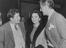 Peter Ustinov, Jean Simmons and Stewart Granger .       This is a fully retouched and clean, publication quality copy of an