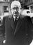 Herbert Wilcox is declared bankrupt, photograph show Wilcox arriving at court, 1964.       This is a fully retouched and