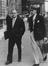 Herbert Wilcox and Warwick Ward arriving at the Film Chiefs Conference, 1947.       This is a fully retouched and clean,