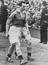 Stanley Matthews walks off the pitch at Wembley clutching his winners medal, 1951.       This is a fully retouched and