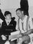Stanley Matthews returns to Stoke, 1961, shown here signing an autograph for John Elkes, a 14 year old patient of