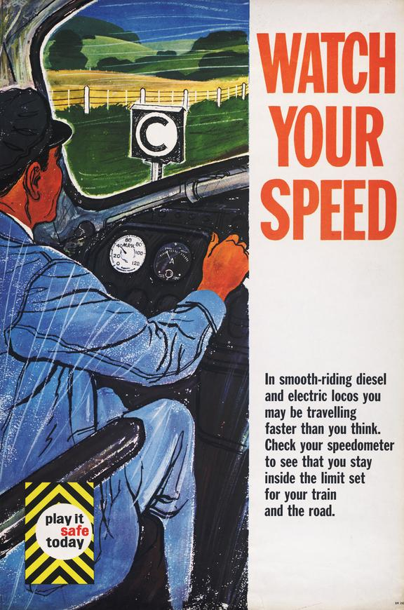 Poster, Watch your Speed