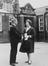 Barbara Castle M.P. visits Love Lane Primary School, Pontefract, Yorkshire, where she started school aged 3 1/2 years