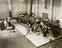 Orchestra in a recording studio, circa 1930